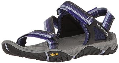 Womens All Out Blaze Web Sandal, Aluminum, 10 M US Merrell