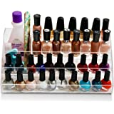 daisi Nail Polish Holder | Multi-Level Premium Quality Acrylic Organizer Nail Polish Storage