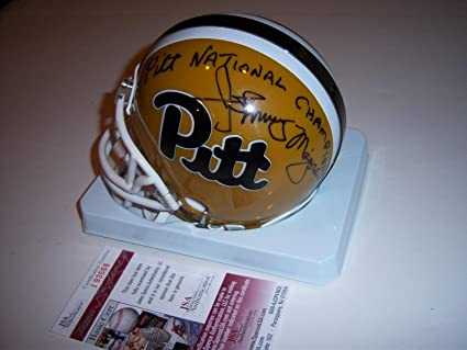 bdaf93404 Image Unavailable. Image not available for. Color  Johnny Majors Pitt  Panthers 1976 National Champs coa Signed ...