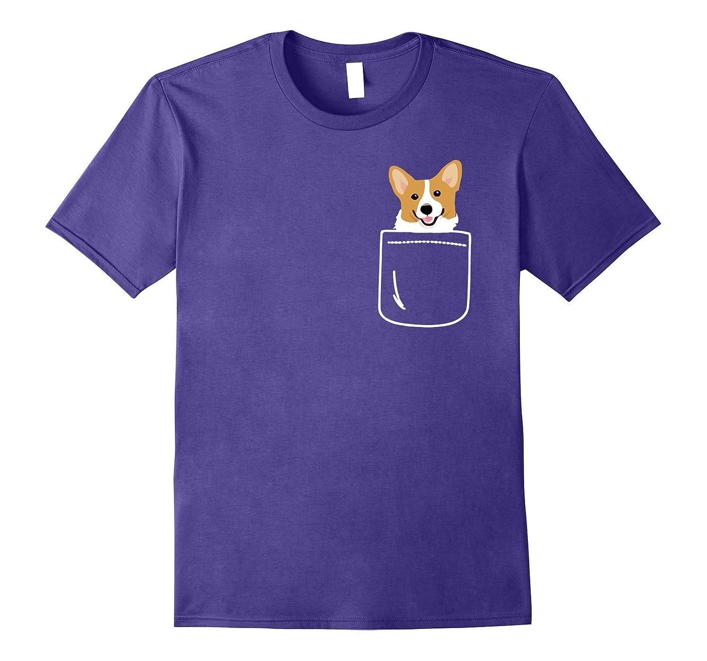 Corgi In Your Front Pocket T-Shirt Beautiful Puppy-BN