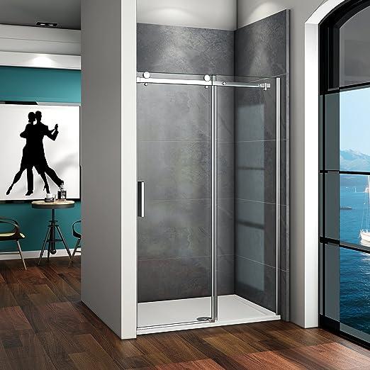 120x195cm Mamparas de ducha puerta de ducha 8mm vidrio templado de Aica: Amazon.es: Bricolaje y herramientas
