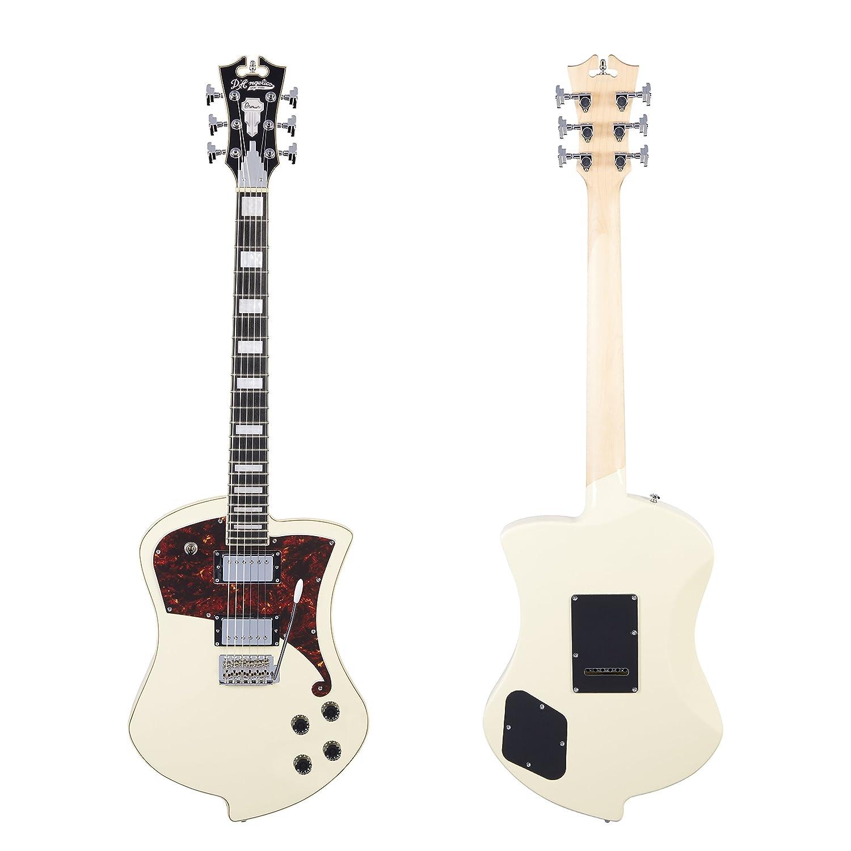 DAngelico Premier Ludlow guitarra eléctrica con trémolo Tailpiece - blanco antiguo: Amazon.es: Instrumentos musicales