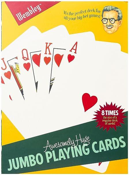 Amazon.com: Wembley de los hombres Jumbo Juego de cartas ...