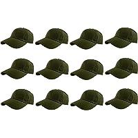 Gelante Baseball Caps 100% Cotton Plain Blank Adjustable Size Wholesale LOT 12 Pack