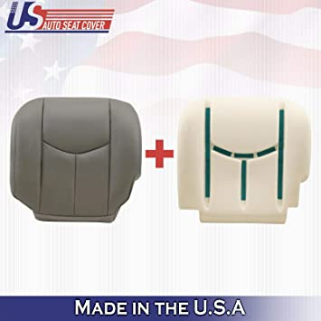 2003 2004 2005 2006 2007 GMC Sierra Driver Bottom Leather Seat Cover Gray