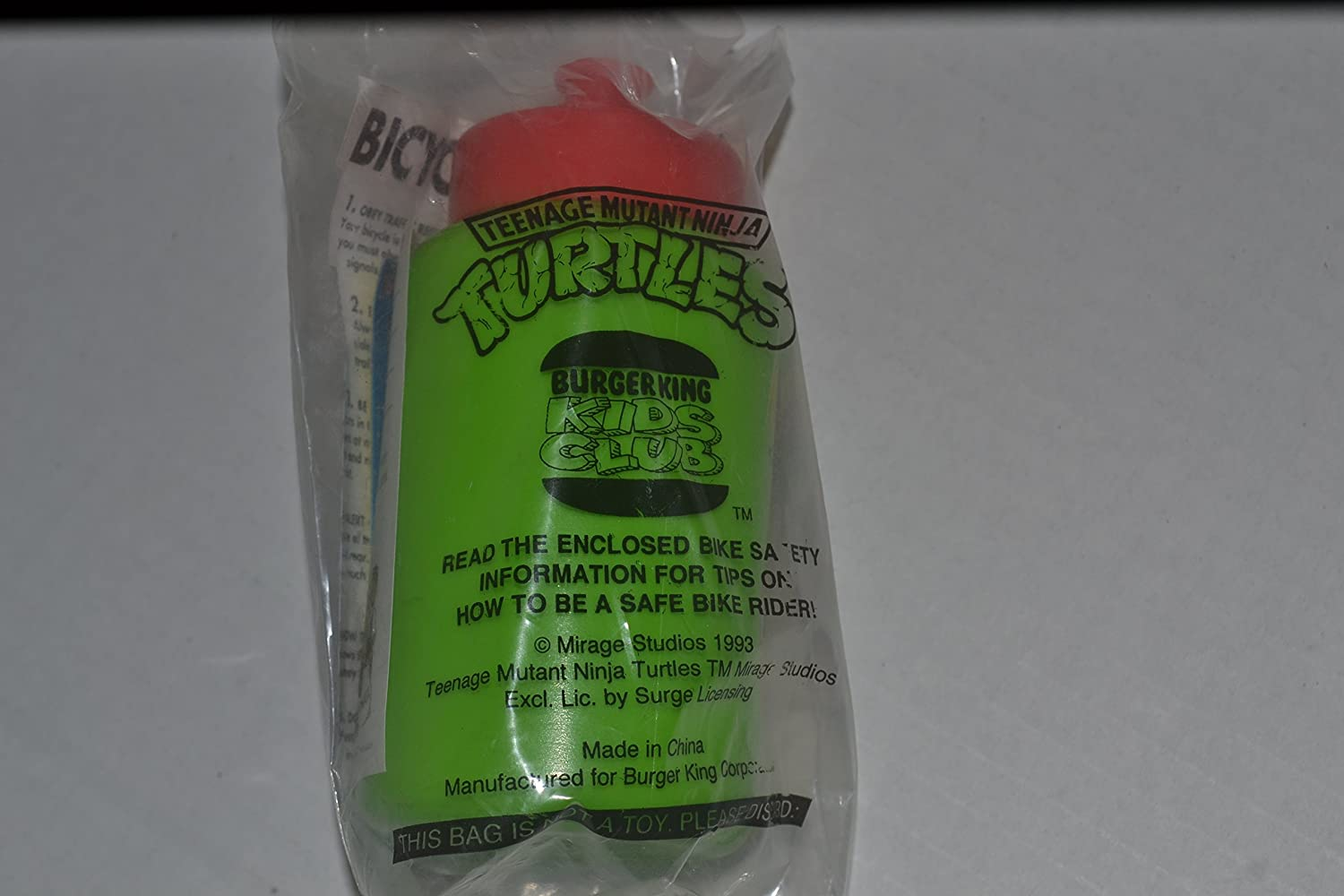 Amazon.com: Squeeze bottle 1993 Burger King TMNT Teenage ...