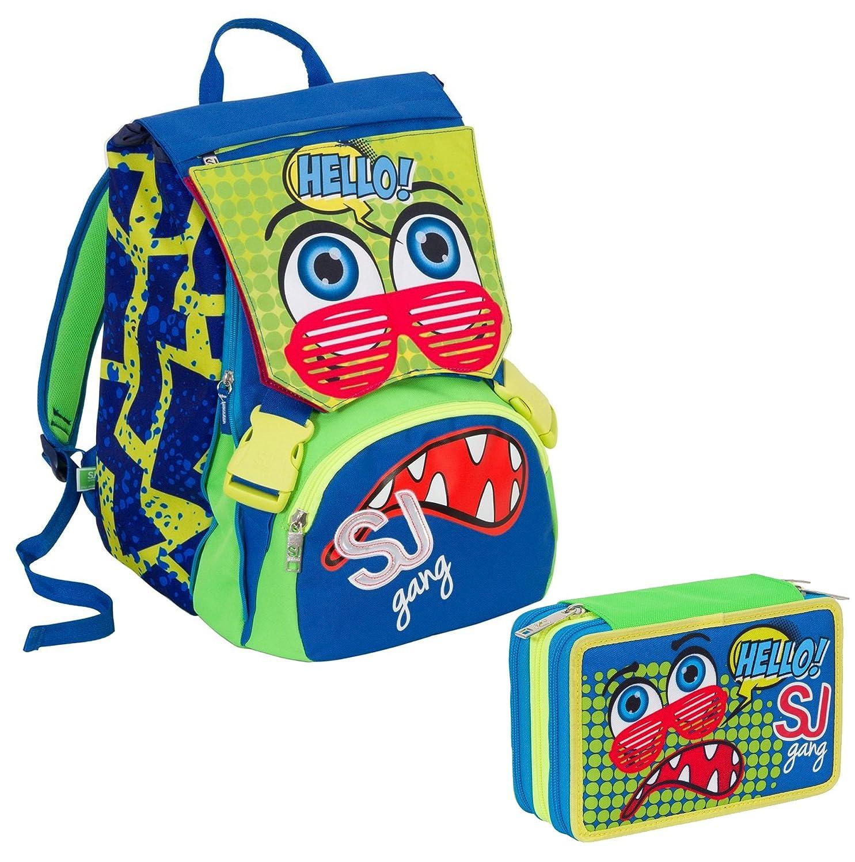 26034a72fe Zaino scuola sdoppiabile SJ - BOY - Blu verde Rosso Rosso Rosso - FLIP  SYSTEM -