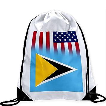 Wellay Bolsa de Cordón Grande con Bandera de Santa Lucía – Muchos Diseños – Imagen Vibrante
