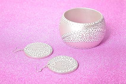 Pendientes y pulsera artesanales conjunto de bisuteria accesorios para mujer