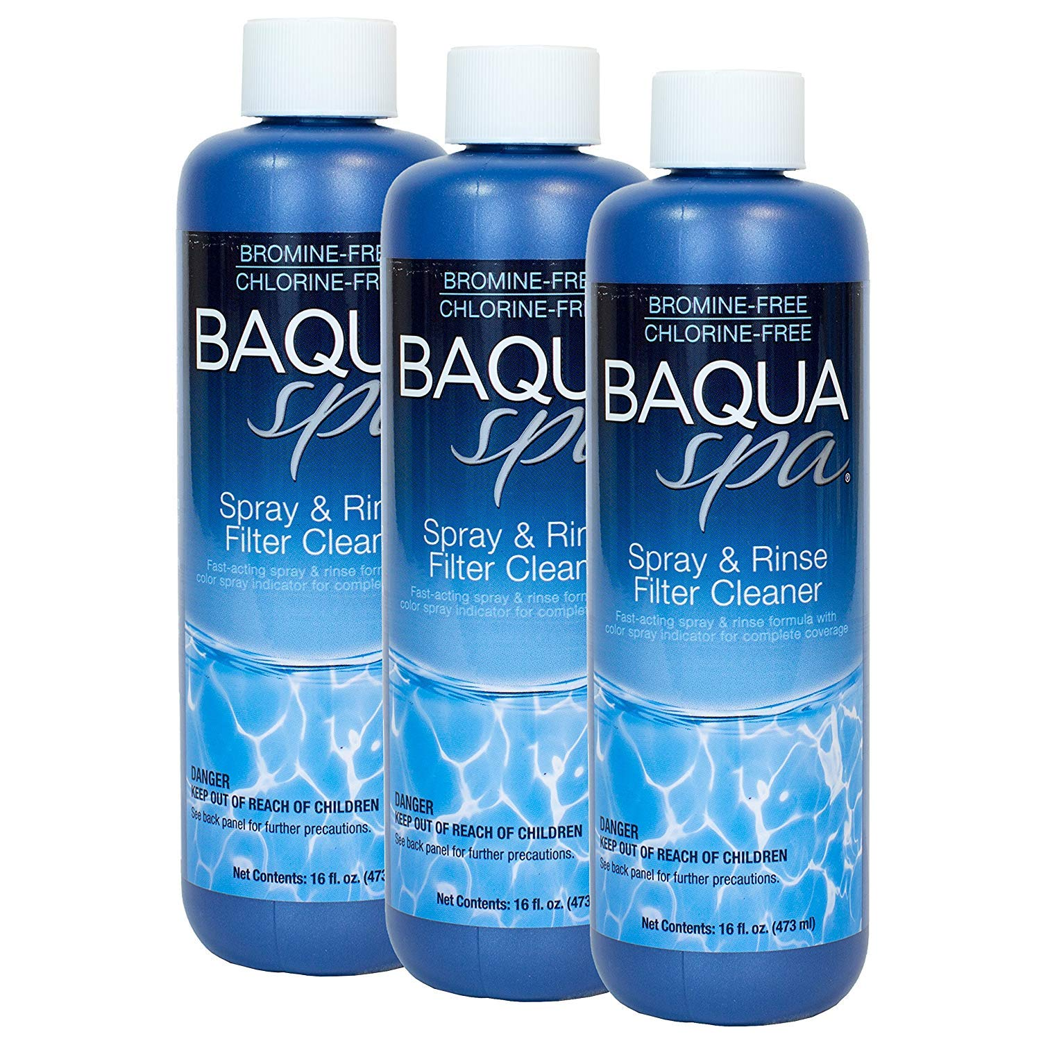 Baqua Spa Spray & Rinse Filter Cleaner (1 pt) (3 Pack) by Baqua Spa