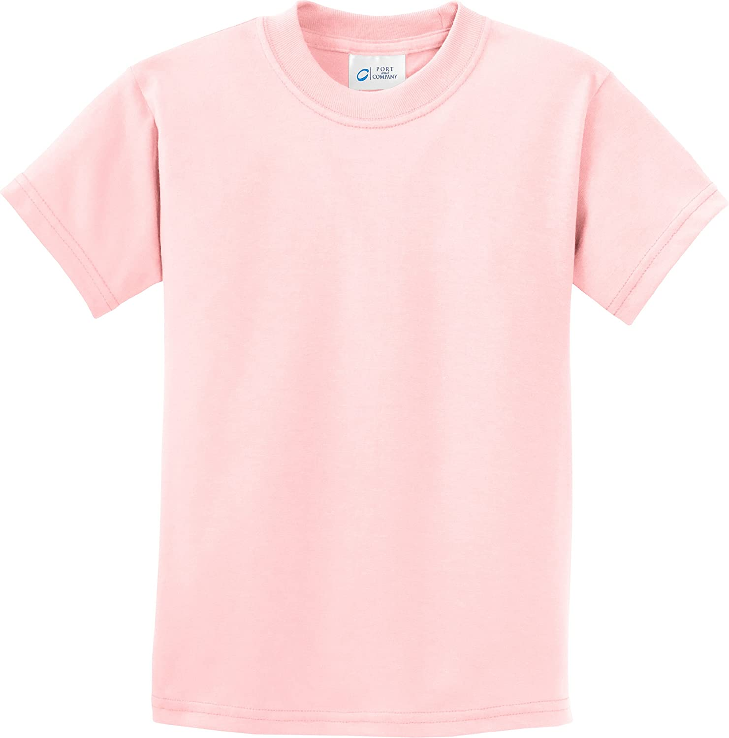 PC61Y-Pale Pink Port /& Company-Youth 100/% Cotton Essential T-Shirt