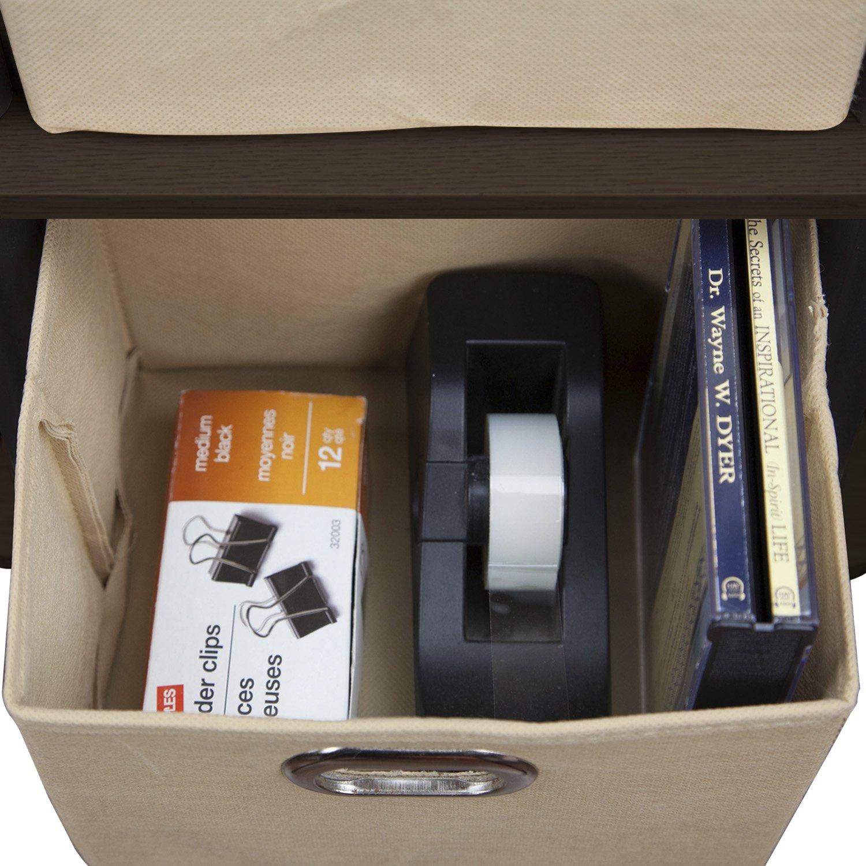 Furinno LACi 4-Bins System Rack, 11.3(W) x 28.8(H) Inch, Espresso/Black by Furinno (Image #4)
