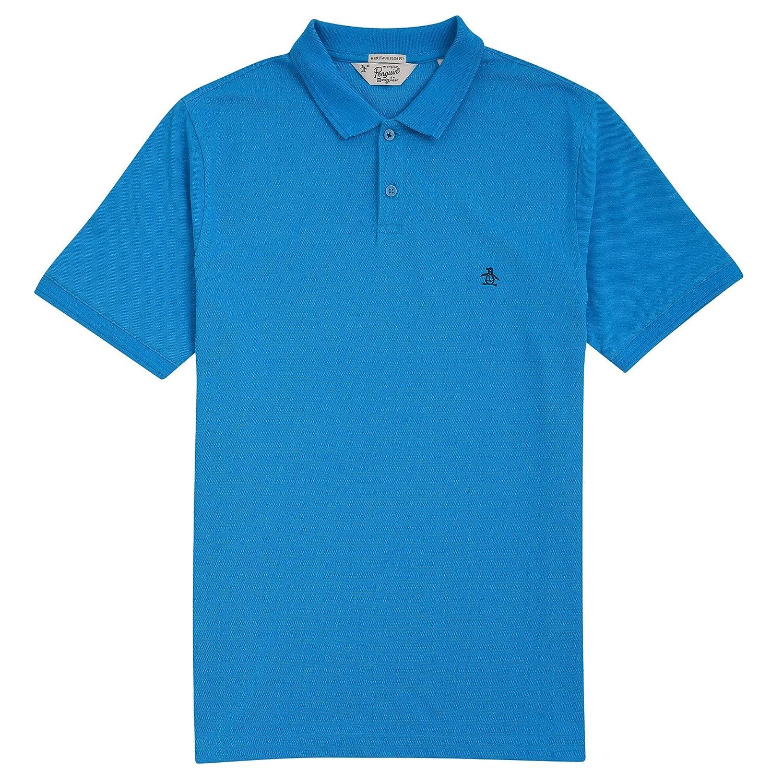 Original Penguin Raised Rib, Polo para Hombre, Azul (Ballard Blue ...