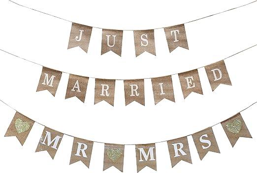 Mr /& Mrs Wedding Day 9ft Foil Banner