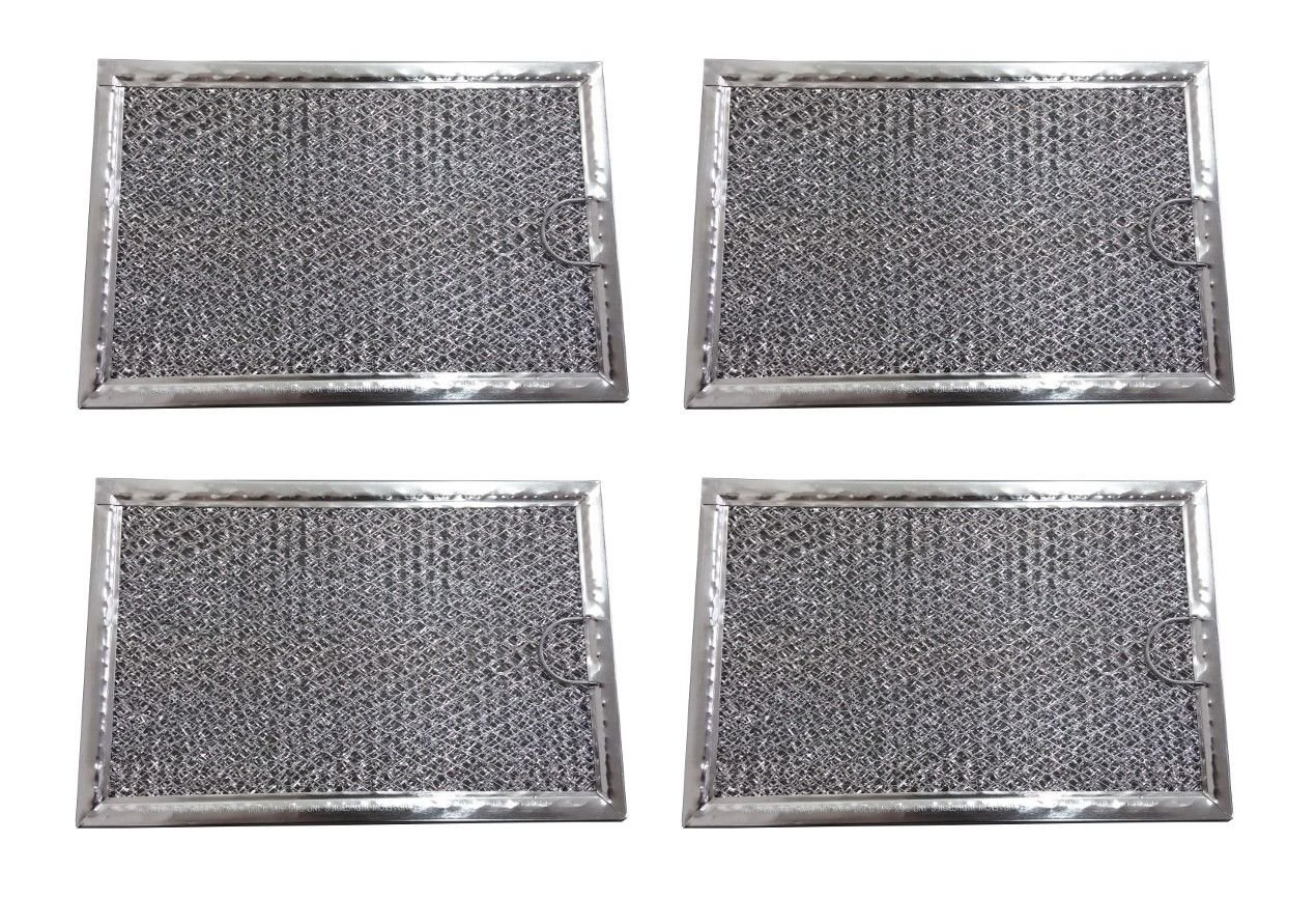 KHY (4 pack) Aluminum frame with aluminum mesh Grease Filter for LG Microwave 5 x 7 5/8