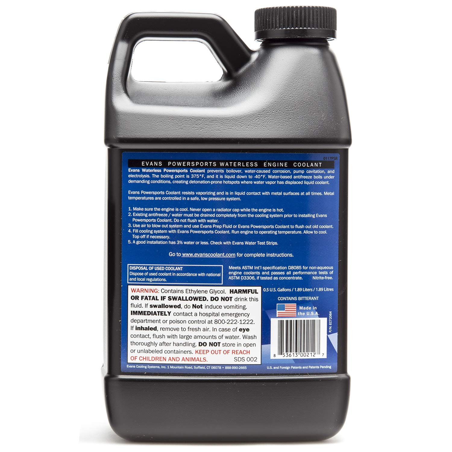 Evans Coolant Ec72064 Powersports Waterless Engine Damage 1 2 Gallon Automotive