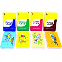 Playwell Set of 4 Plastic Coated Playing Cards Premium Quality