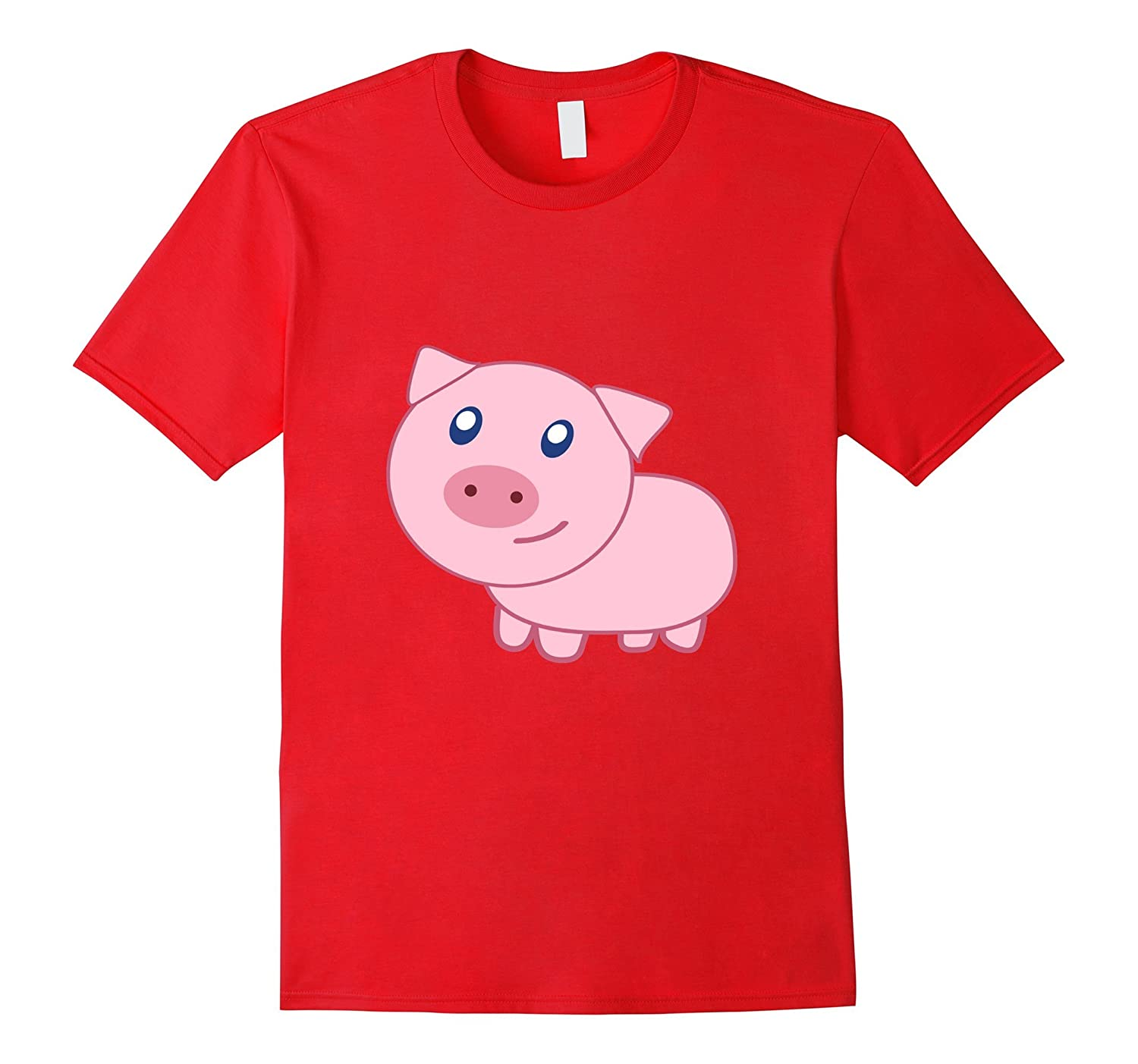 Adorable Pig T-Shirt Cartoon Pink Farm Animal Oink-RT