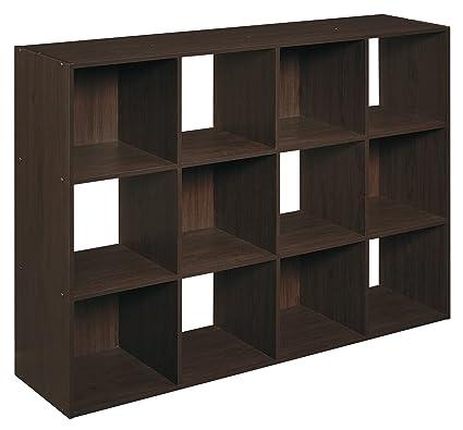 Amazon Com Closetmaid 1292 Cubeicals Organizer 12 Cube Espresso