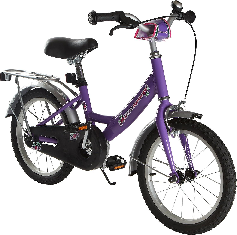 Bicicleta infantil de Ultrasport, para niñas y niños a partir de 3años (aprox. 31,7 cm) o 4,5años (aprox. 40 cm), con freno de contrapedal