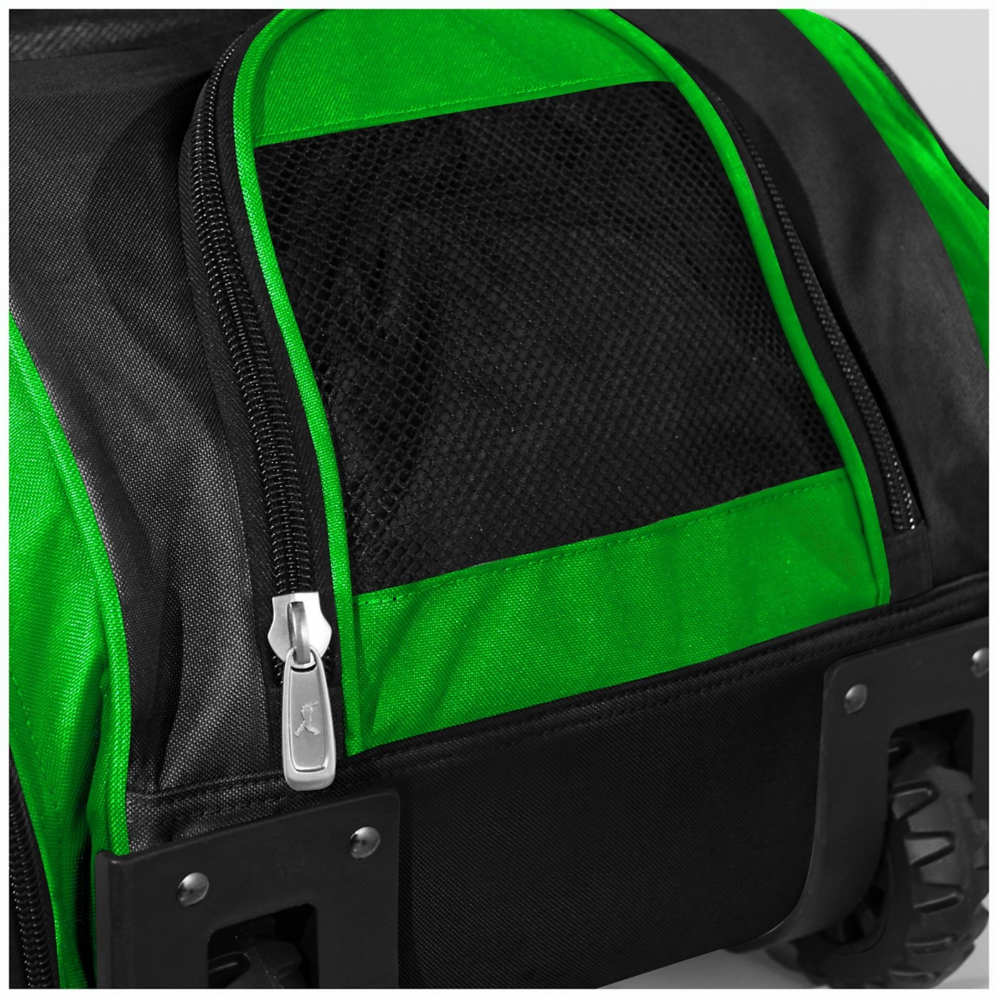 Boombah Beast Baseball/Softball Bat Bag - 40'' x 14'' x 13'' - Black/Lime Green - Holds 8 Bats, Glove & Shoe Compartments by Boombah (Image #4)