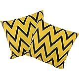 VIshal Kumar VISHAL STORE Cotton Cushion Covers 40X40 cm (16X16, Yellow)-Set of 2