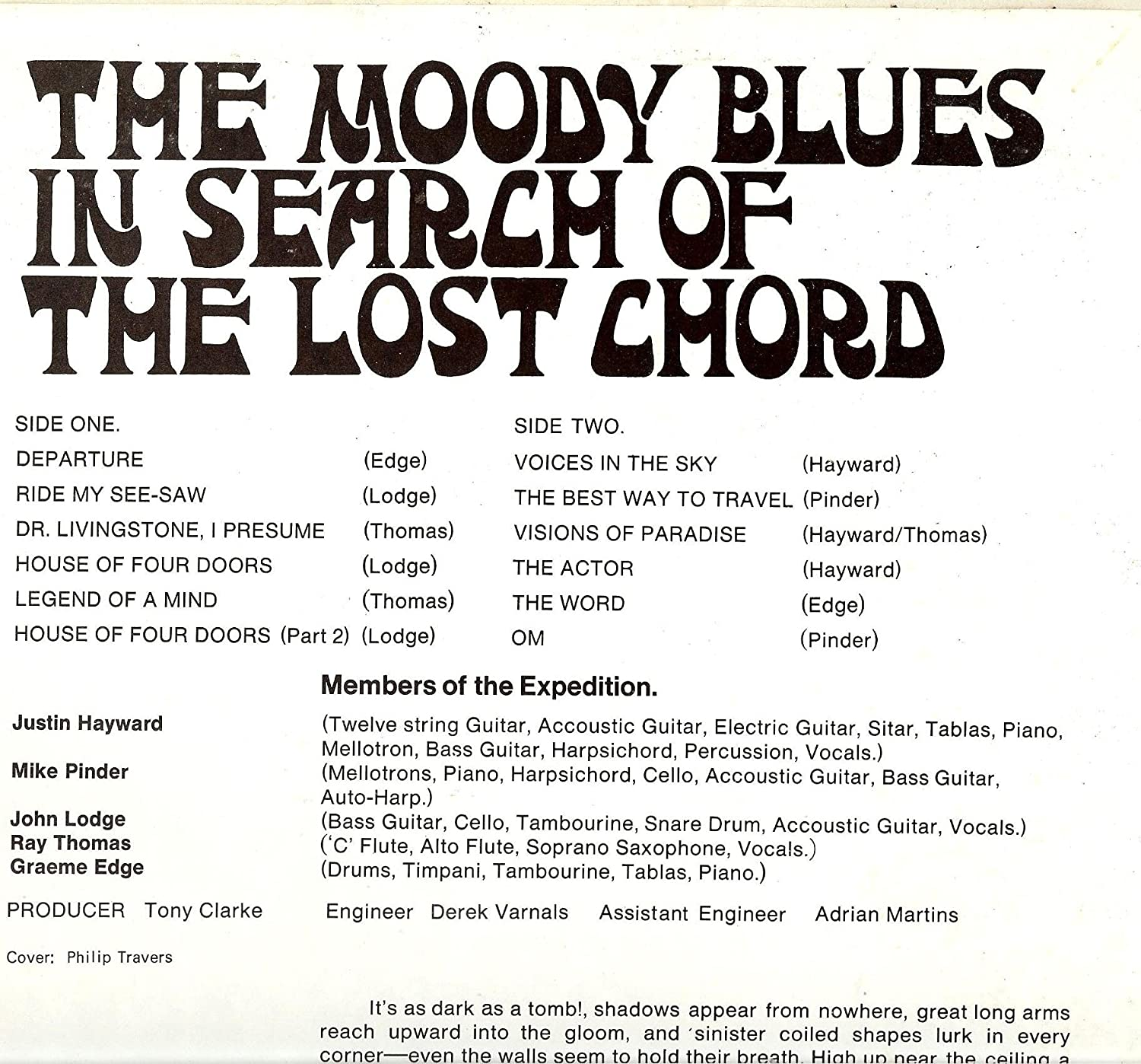 In Search Of The Lost Chord Lp Vinyl Uk Deram 1968 Amazon Music