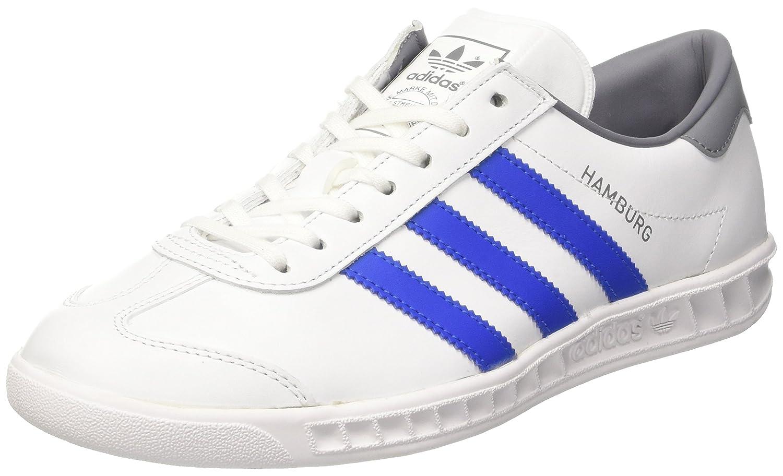 Adidas Hamburg, Zapatillas de Tenis para Hombre 45 1/3 EU|Multicolor (Ftwwht/Blue/Grey)