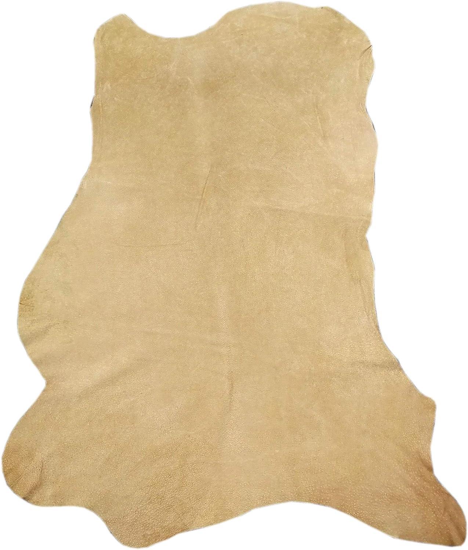Zerimar Piel Cuero | Pieles Cuero Natural | Retales de Piel para Manualidades | Piel para Artesanos | Retal Cuero | Retales de Cuero | Color: camel | Medidas: 110x80 cm.8.4 Pies
