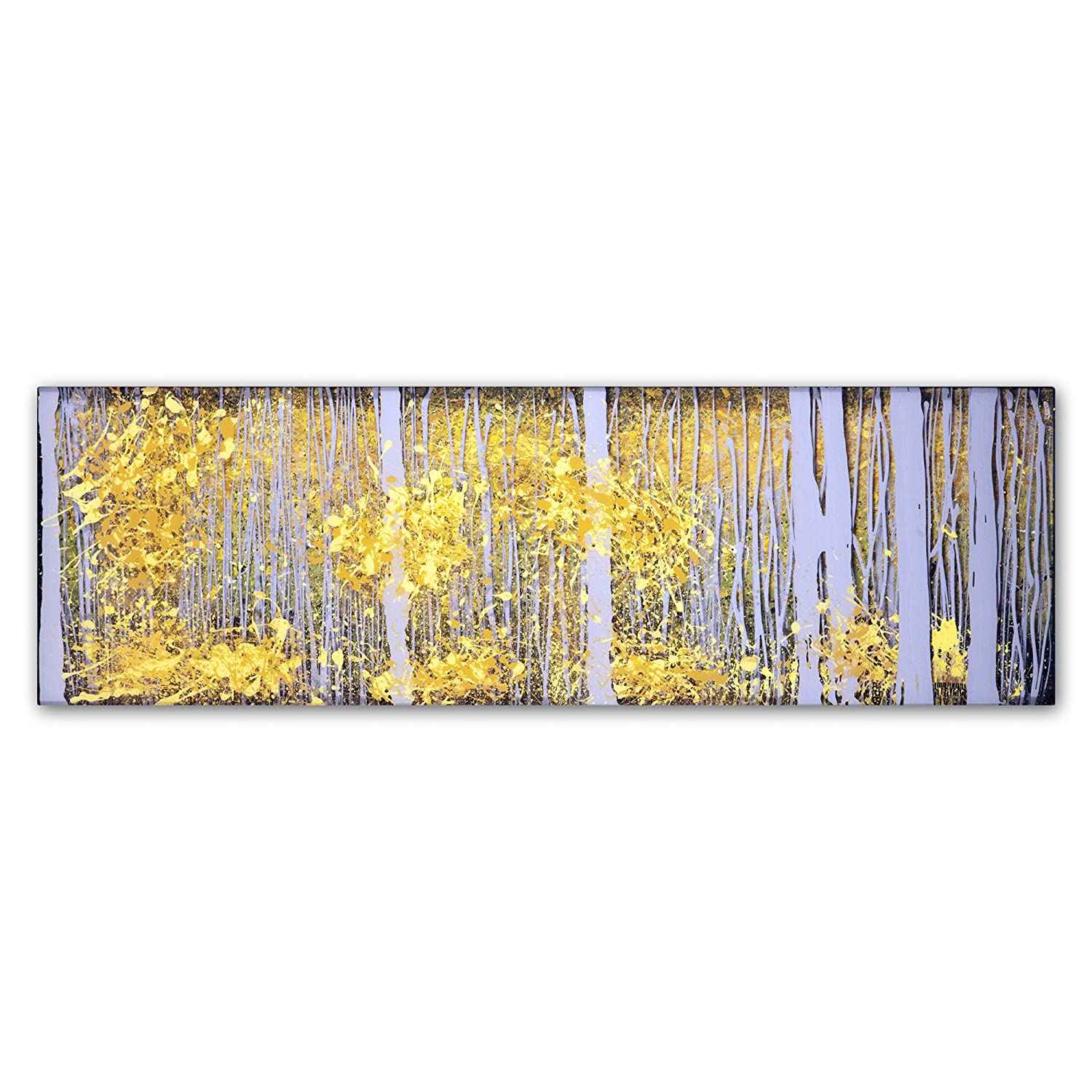 Amazon.com: PanorAspens Grey Forest by Roderick Stevens Wall Decor ...