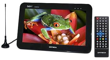 """DMTech DM10TH3 - Televisor portátil con pantalla LED de 10.1"""" (recepción TDT, USB"""