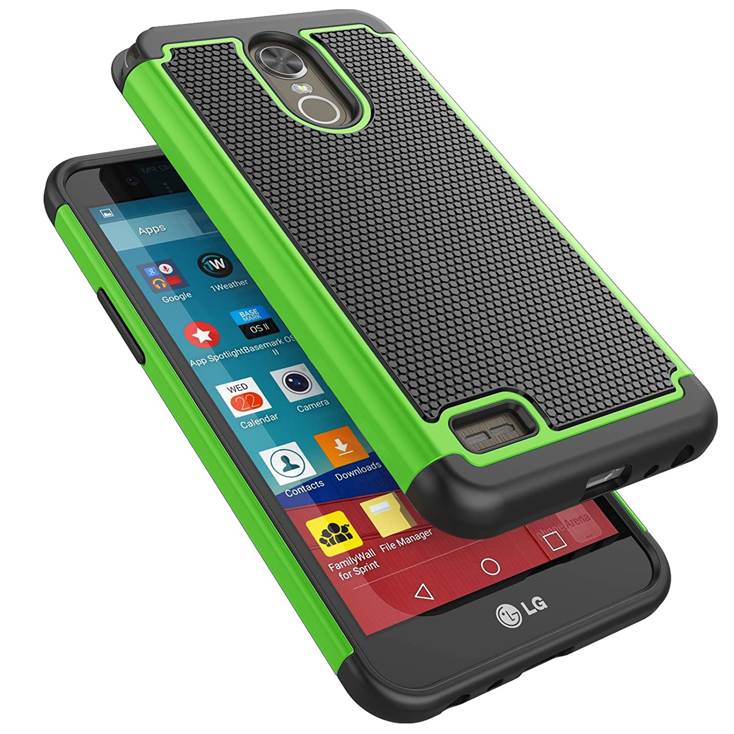 LG Stylo 3 Case, LG Stylo 3 Plus Case for Girls, Tekcoo [Tmajor] Shock  Absorbing Rubber Plastic [Green] Scratch Resistant Defender Bumper Rugged  Slim