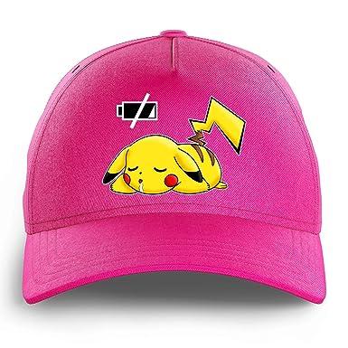 Gorra Niño e Niña Rosa Pokémon humorística con Pikachu - Battery ...