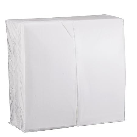 eDayDeal Desechables papel de tela mano toallas de invitados de - suave, absorbente, Air Laid pañuelos de papel para cocina, baño o eventos, color blanco ...