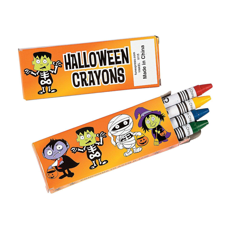 6 packs Fun Express 13698988 Halloween Crayons Party Favor Packs