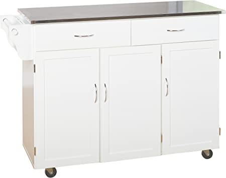 Target Marketing Systems XL Kitchen Cart, X-Large, White