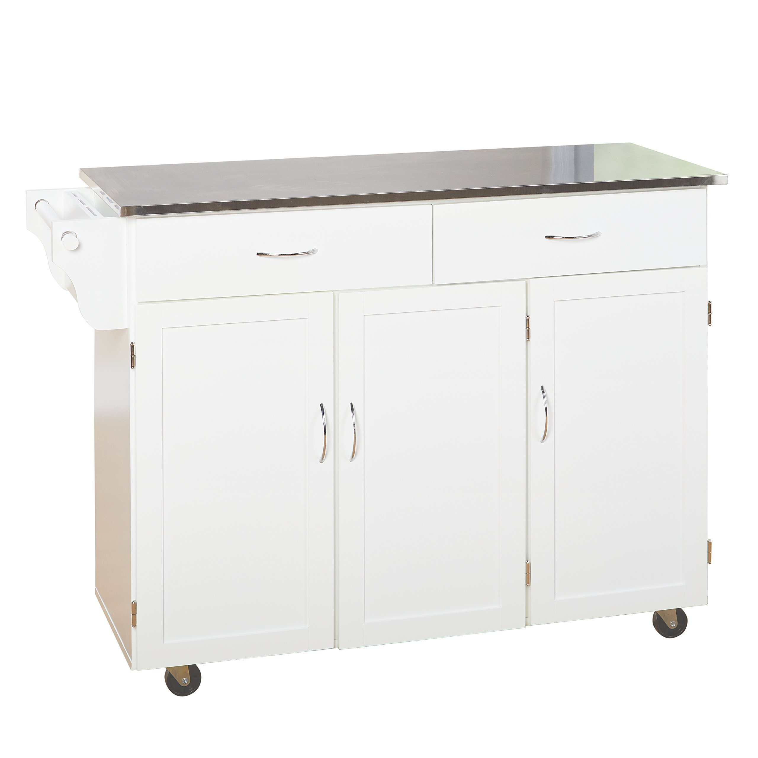 Target Marketing Systems 60049WHT XL Kitchen Cart, X-Large, White by Target Marketing Systems