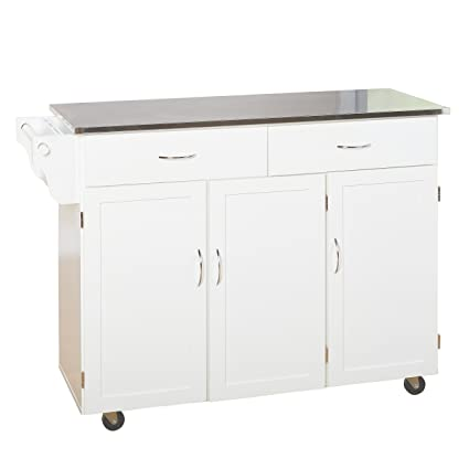 target marketing systems 60049wht xl kitchen cart x large white - Kitchen Cart Target