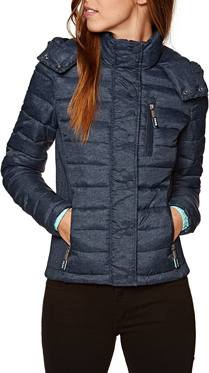 "Superdry Kapuzenjacke ""Fuji Slim Double Zip�? in Marineblau"