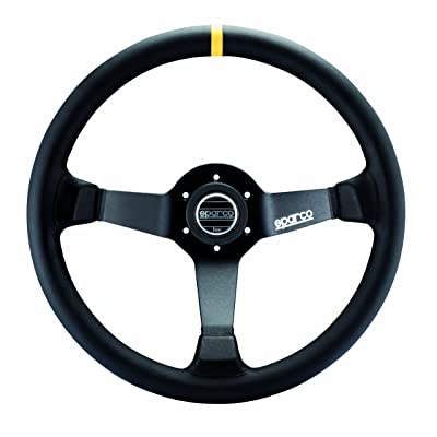 Sparco 015R345MLN Leather Steering Wheel,Black: Automotive [5Bkhe0812083]