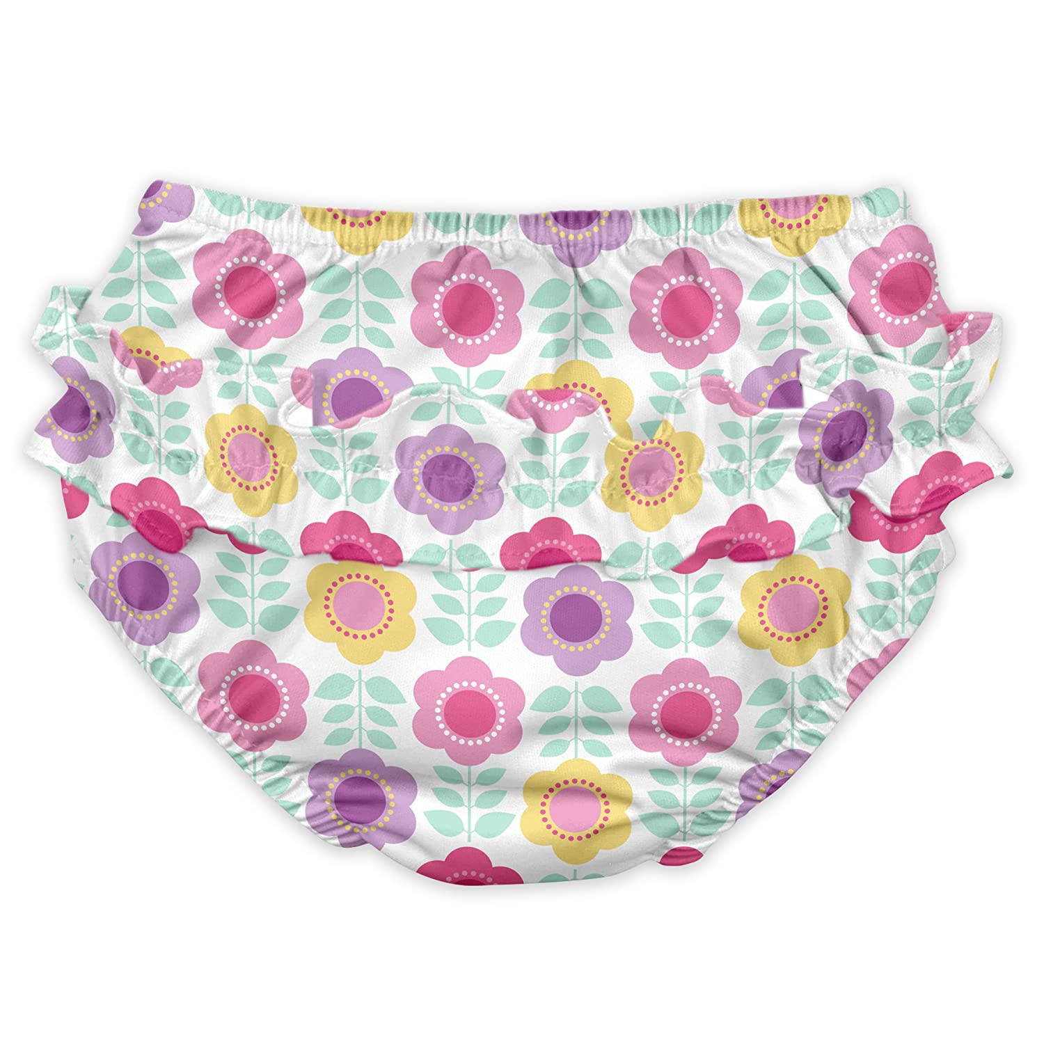 Baby Girls Ruffle Snap Reusable Absorbent Swim Diaper I-Play