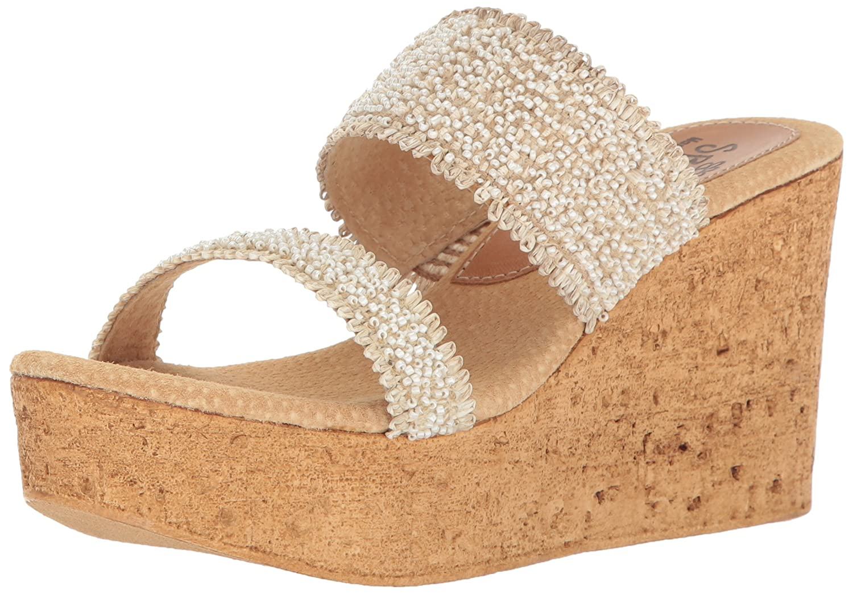 Sbicca Women's Moreno Wedge Sandal B01M0XKG7Z 10 B(M) US|Off White