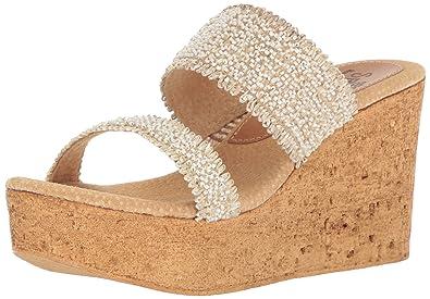 7f9746fcb74e Sbicca Women s Moreno Wedge Sandal Off White 9 B US