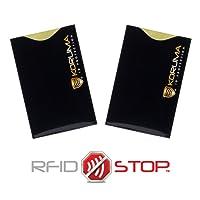 Étui protége des cartes de crédit, débit bloquant les signaux RFID/NFC, protection portefeuille Titulaire (KFR-70VBLS)