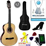 Acoustic Guitar Package 3/4 Sized (36' inch) Classical Nylon String Childs Guitar Pack Natural