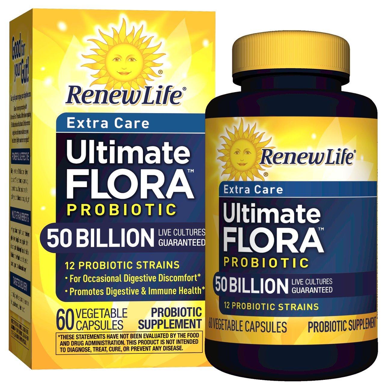 Renew Life - Ultimate Flora Probiotic Extra Care - 50 billion - 60 vegetable capsules