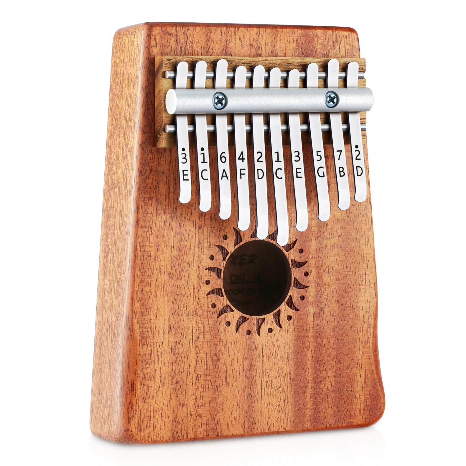 Donner 10 Key Kalimba Thumb Piano Solid Finger Piano Mahogany Body DKL-10 by Donner (Image #2)