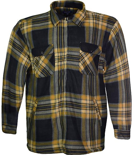 1df62c87f7 Mens Padded Shirt Lumberjack Shirts Inside Fur 3XL 4XL 5XL  Amazon.co.uk   Clothing