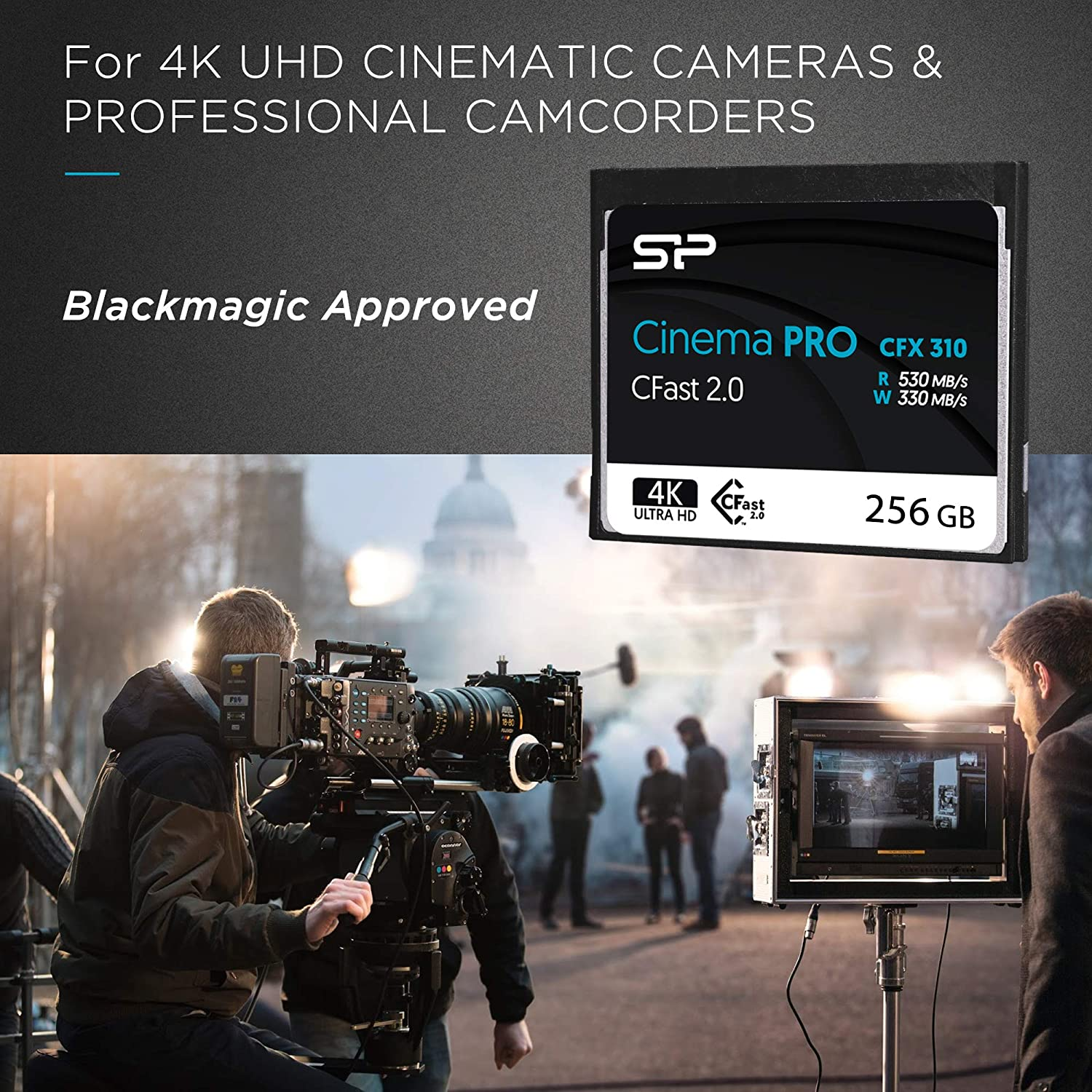 for Blackmagic URSA Mini 3500X and up to 530MB//s Read Silicon Power 256GB CFast2.0 CinemaPro CFX310 Memory Card Canon XC10//1D X Mark II and More Silicon Power imports SP256GICFX311NV0BM MLC