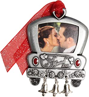 product image for Gloria Duchin Wedding Car Our First Christmas Ornament, Silver and Red
